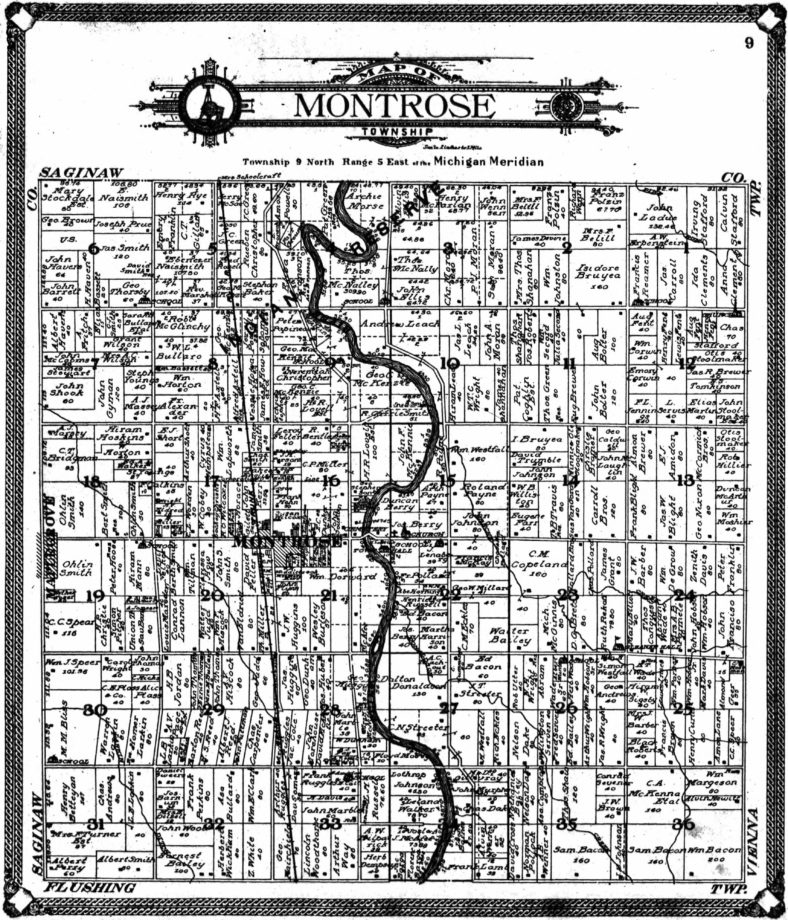 Montrose Land Ownership Map 1907